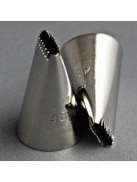 Накрайник за пош, назъбен, малък, 1/0,4 см.