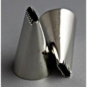 Накрайник за пош, назъбен, малък, 0,9/0,2 см.
