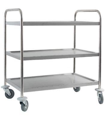 Сервитьорска количка неръждаема, на 3 нива