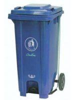 Кош за боклук с педал и колела 120л.