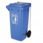 Кош за боклук с педал и колела 240 л.